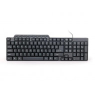 Gembird compact multimedia keyboard KB-UM-104, USB , US layout, black KB-UM-104