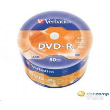 Verbatim DVD-R 4.7GB 16x DVD lemez zsugorhengeres 50db/henger /43788/