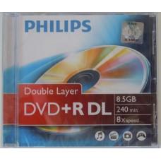 Philips DVD+R85 Dual-Layer 8x írható DVD lemez DPHPDL