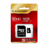 SILICON POWER 16GB Micro Secure Digital Card Elite UHS-I + SD adapter