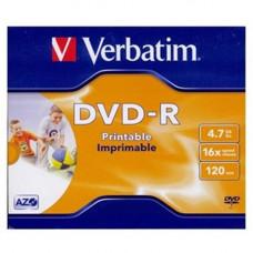 Verbatim DVD-R írható DVD lemez 4,7GB matt szélesen nyomtatható normál tok