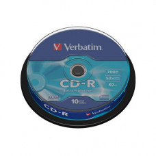 Verbatim CD-R írható CD lemez 700MB 10db hengeres