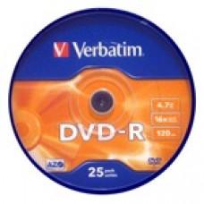 Verbatim DVD-R írható DVD lemez 4,7GB 25db hengeres