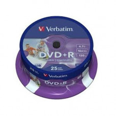 Verbatim DVD+R írható DVD lemez 4,7GB 25db hengeres