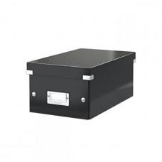 """LEITZ DVD tároló doboz, lakkfényű, LEITZ """"Click&Store"""", fekete"""