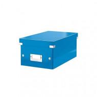 """LEITZ DVD tároló doboz, lakkfényű, LEITZ """"Click&Store"""", kék"""