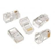 Gembird LAN modular plug 8P8C for solid cable cat. 5e, 30U'' (10 pcs) LC-8P8C-001/10