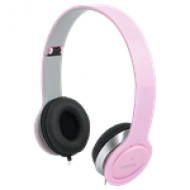 """LogiLink """"Smile"""" Sztereó fejhallgató, pink HS0032"""