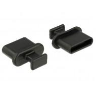 Delock Porvédo USB-C típusú kimenethez fogantyúval 10 db fekete 64013