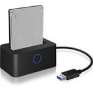 IcyBox dokkolóállomás 2,5'' SATA HDD/SSD számára, USB 3.0, LED IB-2501U3