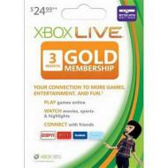 MS Feltöltő kártya Xbox360 Live 3 Havi Gold Card (Slim csomagolás)