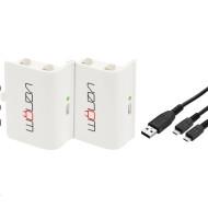 Venom VS2860 Xbox One fehér akkucsomag (2 db) + 2 méter töltőkábel VS2860