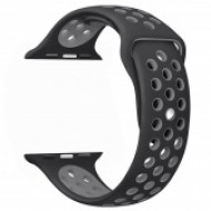 Apple watch szilikon óraszíj, Fekete/Szürke CEL-STRAP-APPLE-BKGY