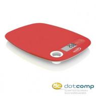 Hauser DKS-1064 digitális konyhai mérleg piros