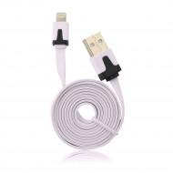 BlueStar USB Flat Cable - APP IPHO 5/5C/5S/6/6 Plus/iPAD Mini iOS9 compatibile light pink 2M BS408068
