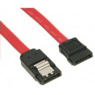 SATA adatkábel 50cm fém clip-es