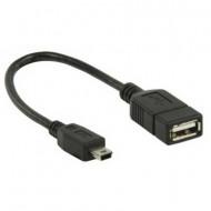 USB 2.0 mini OTG kábel 20cm
