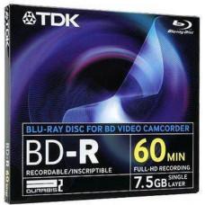 Disk BD-R TDK for camcorder 7,5GB BD-R8JC2EA