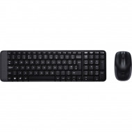 LOGITECH MK220 wireless billentyűzet + optikai egér Black Cordless.Black.USB.HUN