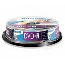 Philips DVD-R 4,7Gb 16x Hengeres 10db/csomag (10-es címke)