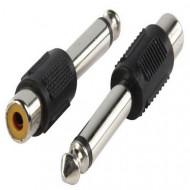 Valueline Adapter plug 6.35mm mono plug to phono socket