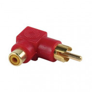 Valueline Adapter plug angled RCA plug to RCA socket (GOLD)