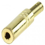 Valueline 3.5mm stereo socket gold+