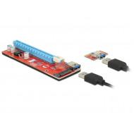 Delock Bővítőkártya PCI Express x1  PCI Express x16, 60 cm-es USB-kábellel 41423