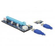Delock Bővítőkártya PCI Express x1  PCI Express x16, 60 cm-es USB-kábellel 41426