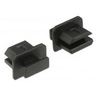 Delock Porvédő mini Displayport típusú kimenethez fogantyúval 10 db fekete 64026