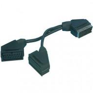Valueline 21p SCART plug - 2x SCART socket 0.20 m