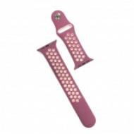 Apple watch szilikon óraszíj, 42 mm, Lila/Pink CEL-STRAP-APPLE-PU-P
