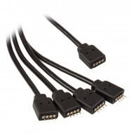 LED Szalag hosszabbító/elosztó Akasa 50cm (Asus / MSI / Gigabyte / ASRock) AK-CBLD04-50BK