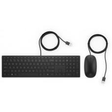 HP Vezetékes Billentyűzet + Optikai egér Pavilion 400, fekete 4CE97AA#AKC