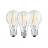 Osram BASE Clas LED fényforrás E27 7W Körte meleg fehér filament (3db) /4058075819290/
