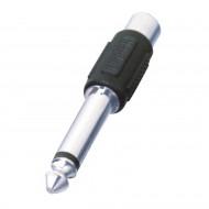Somogyi 6.35 mm Jack apa - RCA anya adapter fekete /AC 4/