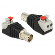 Delock BNC anya  Terminal Block nyomógombbal 2 pines adapter 65526