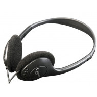 Gembird stereo headphones with volume control, black MHP-123