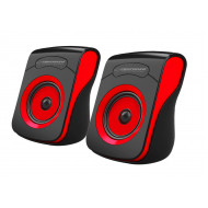 ESPERANZA FLAMENCO USB STEREO SPEAKERS 2.0 BLACK/RED EP140KR