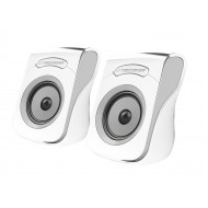ESPERANZA FLAMENCO USB STEREO SPEAKERS 2.0 WHITE/GREY EP140WE