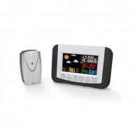 PLATINET Digitális Időjárás állomás LCD, Vezetéknélküli, Kültéri/Beltéri, Fekete OWS03