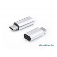 Haffner USB Type-C - Lightning adapter - ezüst PT-4726
