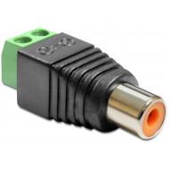 Delock Adapter RCA anya Terminál Blokk 2 érintkezővel 65418
