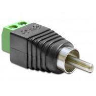 Delock Adapter RCA apa  Terminál Blokk 2 érintkezővel 65417