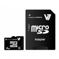 4GB SDHC micro memória kártya  +adapter V7 /VAMSDH4GCL4R-1E/