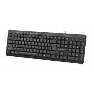 Gembird compact multimedia keyboard KB-UM-106, USB, RU layout, black KB-UM-106-RU