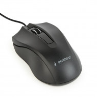 Gembird optical mouse MUS-3B-01, 1000 DPI, USB, Black, 1.35m cable length MUS-3B-01
