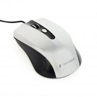 Gembird optical mouse MUS-4B-01-BS, 1200 DPI, USB, Black/silver MUS-4B-01-BS