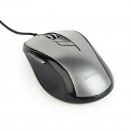 Gembird optical mouse MUS-6B-01-BG, 1600 DPI, USB, Black/spacegrey MUS-6B-01-BG