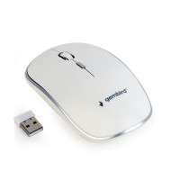 Gembird Wireless optical mouse MUSW-4B-01-W, 1600 DPI, nano USB, white MUSW-4B-01-W